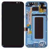 Дисплей модуль Samsung G955F Galaxy S8 Plus в зборі з тачскріном, блакитний, з рамкою, Original, #GH97-20564D