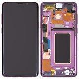 Дисплей Samsung G965F Galaxy S9 Plus модуль в сборе с тачскрином, фиолетовый, с рамкой, Original # GH97-21691B