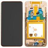 Дисплей модуль Samsung A805F/DS Galaxy A80 в зборі з тачскріном, золотистий, з рамкою, original #GH82-20348A