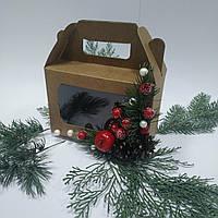 Коробка подарункова з ручкою 190х130х90 мм., фото 1