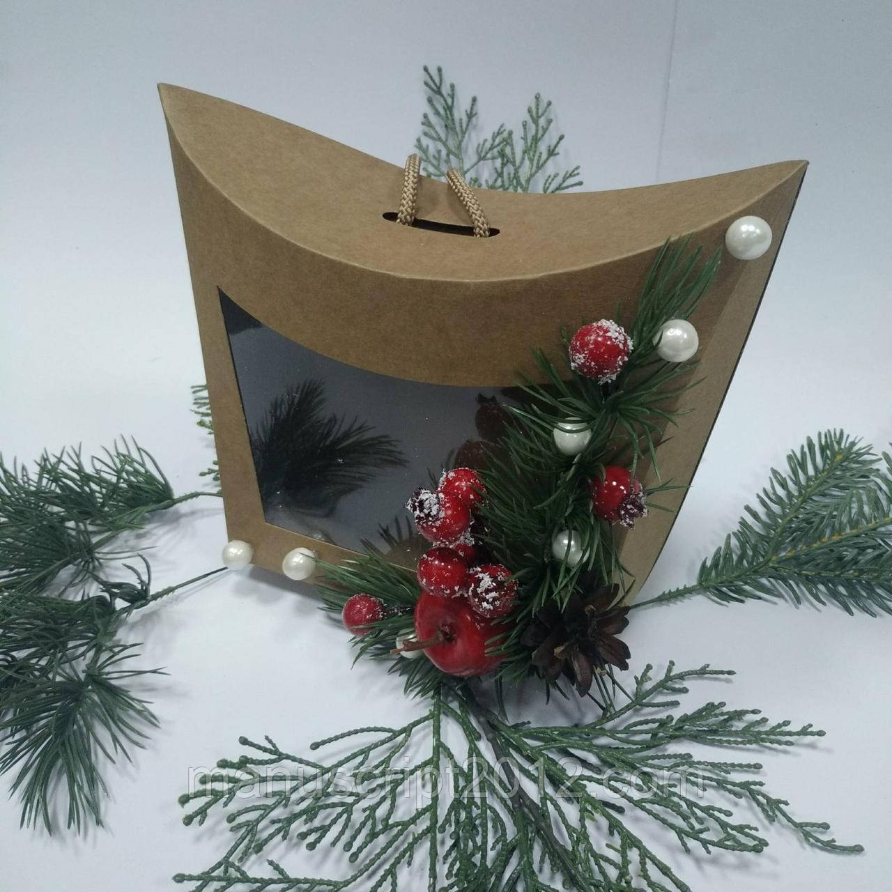 Коробка - сумочка подарункова 155х80х140 мм.