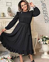 Женское платье в горох большого размера