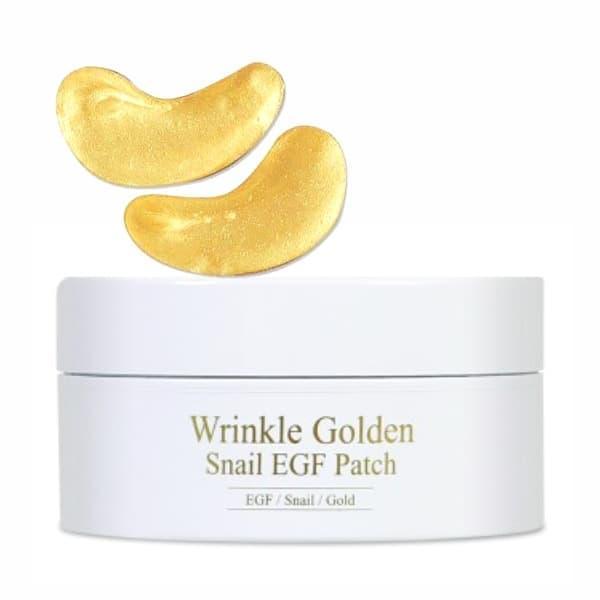 Гидрогелевые патчи под глаза с золотом и муцином The Skin House Wrinkle Golden Snail EGF patch, 60 шт.