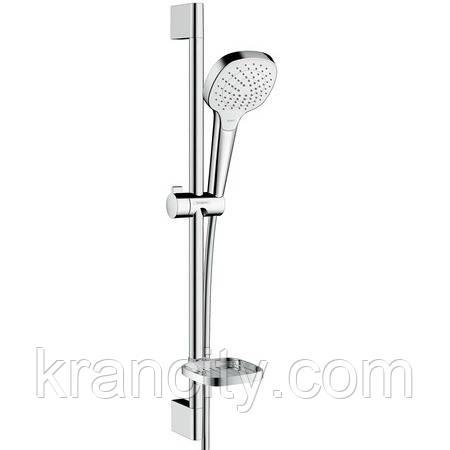 Душевой набор HANSGROHE Croma Select E Vario0,65м, с мыльницей Casetta, белый/хром