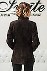 Куртка Удлиненная Женская Замшевая С Кожей 70см Бордо 010ФК, фото 4