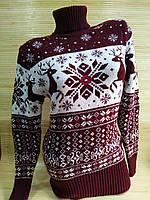 Теплий светр-туніка з оленями жіноча в інтернет-магазині, фото 1