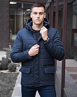 "Мужская осенняя куртка Pobedov Jacket ""Belfort"" Navy темно-синяя"
