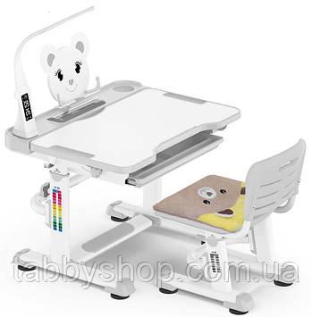 Комплект Evo-kids Teddy XL (парта и стул) BD-04 G Gray c лампой