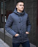 "Мужская осенняя куртка Pobedov Jacket ""Belfort"" Grey серя"