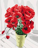 Картина по номерам Идейка Маковый букет для мамы (KH3065) 40 х 50 см