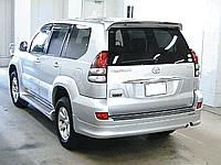 Спойлер багажника TOYOTA LAND CRUISER PRADO 120 02-09 с стопом цвет серебро 1F7
