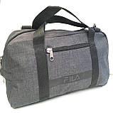 Спортивные универсальные сумки FILA для (3цвета ДЖИНС)19х26х48см, фото 5