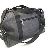 Спортивные универсальные сумки FILA для (3цвета ДЖИНС)19х26х48см, фото 7