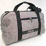 Спортивные универсальные сумки FILA для (3цвета ДЖИНС)19х26х48см, фото 9