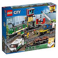 Детский конструктор LEGO City (Грузовой поезд)