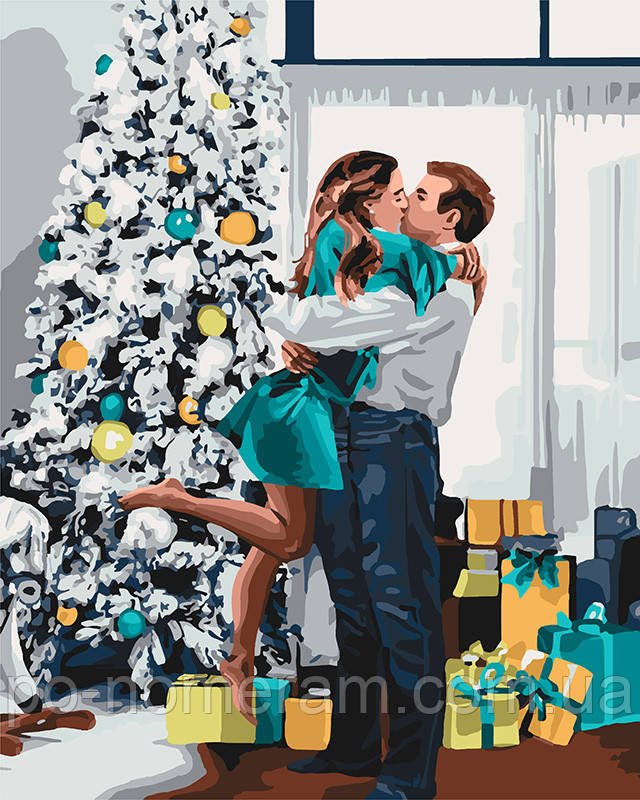 Картина по номерам Идейка Новогоднее настроение (KH4637) 40 х 50 см