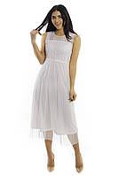 Hello Kiss! Платье сетка и кружево - белый цвет, L