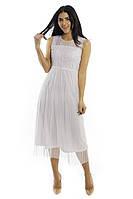 Hello Kiss! Платье сетка и кружево - белый цвет, S