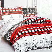 Комплект постельного белья полуторный Elway 5078  Red and Black