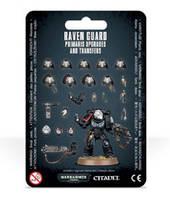 Вархаммер 40000 Гвардия Ворона Набор улучшений (Warhammer 40000: Raven Guard Primaris Upgrades & Transfers ) настольная игра