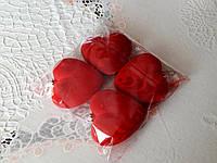 Елочная новогодняя фигурка бархатное сердце