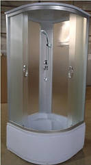 "EKO гидробокс без электроники на глубоком поддоне 900*900*2150 мм, полностью стеклянный ""Fabric"""