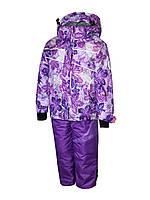 Комплект зимний на девочку: куртка и полукомбинезон. Лучше Lenne. 128 рост