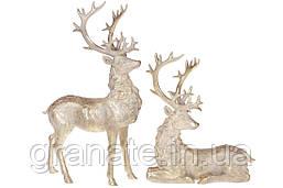 Набор из 2-х Оленей 51 см, цвет - золотой антик