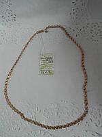 Срібний ланцюжок ручного плетіння з позолотою Чайка