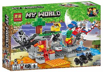 """Конструктор Bela (Lari) 11267 Minecraft """"Битва Драконов"""", 445 деталей."""