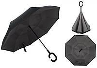 Зонт Наоборот Up-brella - Зонт Обратного Сложения Антизонт  Черный