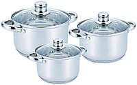 Набор посуды кастрюль из 6 предметов Benson BN 205
