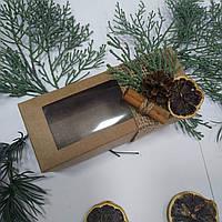 Коробка з новорічним декором 140х55х50 мм., фото 1