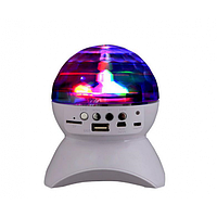 Диско-шар на аккумуляторе Charging crystal magic ball Bluetooth L-740 White