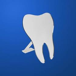 Изделия и сувениры из пластмасс: зеркало зуб на подставке