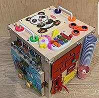 """Развивающий куб для самых маленьких  """"Bizucube Panda""""   25*25*25 см,"""