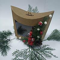 Коробка - сумочка подарункова 155х80х140 мм., фото 1