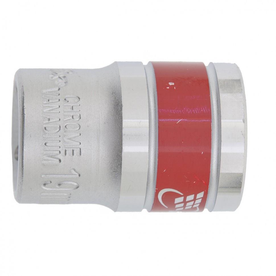 Головка торцевая 17 мм, двенадцатигранная, CrV, под квадрат 1/2, хромированная MTX Master