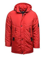 Куртка парка зимняя с капюшоном на мальчика Размеры 40-46