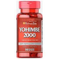 Жиросжигатель йохимбин Puritan's Pride Yohimbe 2000 mg 50 капс.