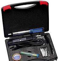 Паяльний набір в кейсі WEP 947-II (паяльник 60W, жала 900M , інструменти та витратні матеріали), фото 3