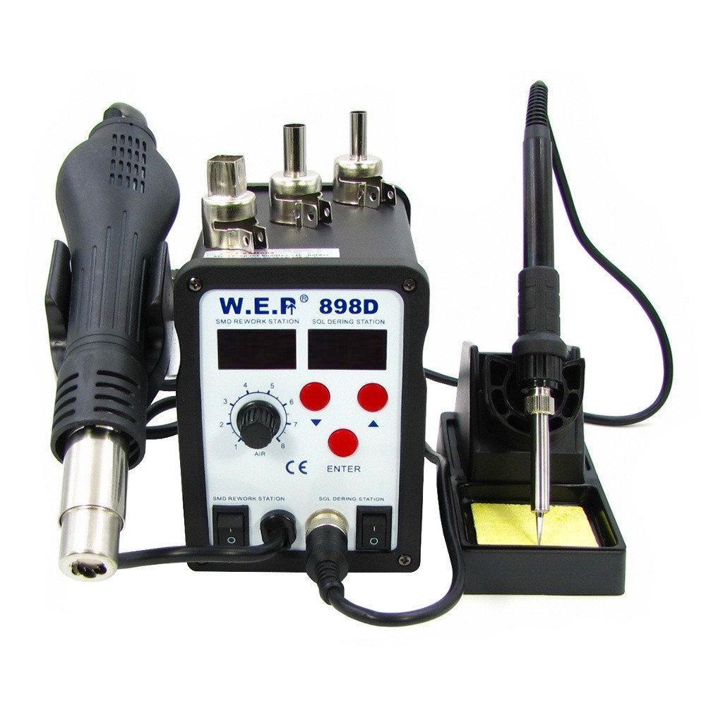 Паяльна станція термовоздушная WEP 898D фен і паяльник