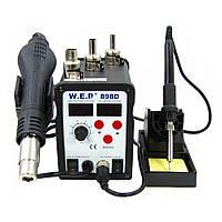 Паяльная станция термовоздушная WEP 898D фен и паяльник
