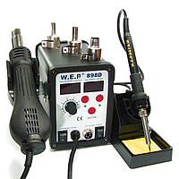 Паяльна станція термовоздушная WEP 898D фен і паяльник, фото 2