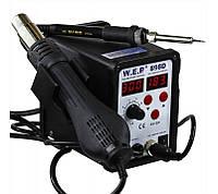 Паяльна станція термовоздушная WEP 898D фен і паяльник, фото 4