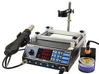 Паяльная станция WEP 853AAA фен с держателем,паяльник,инфракрасный преднагреватель