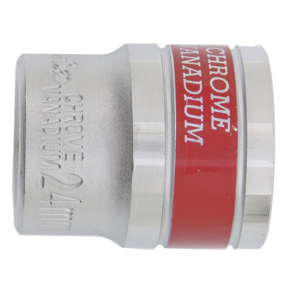 Головка торцевая 24 мм, двенадцатигранная, CrV, под квадрат 1/2, хромированная MTX Master