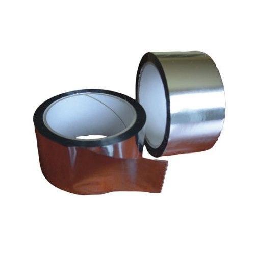 Скотч алюминиевый фольгированный 50мм Isoflex Tape металізована стрічка для склеювання підпокрівельних плівок