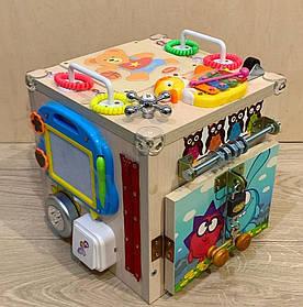 """Развивающий куб для маленьких деток """"Бизикуб"""" бизи куб бизиборд  25*25*25 см"""