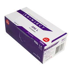 Голка карпульная стоматологічна SHINJECT 30G L (0.3х25мм), фіолетова, метричний тип (100 шт)